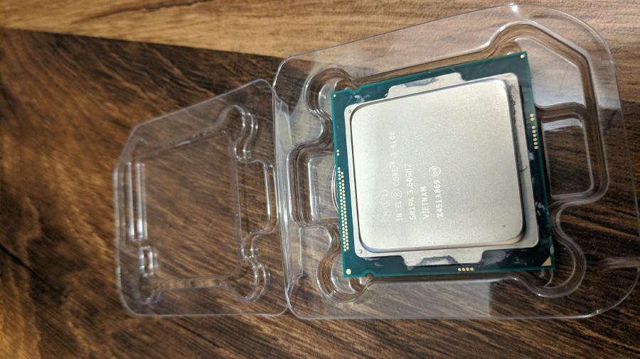 Intel processor in plastic box